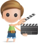 Simple Cute Boy Vector 3D Cartoon Character AKA Little Melvin - Movie