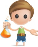 Simple Cute Boy Vector 3D Cartoon Character AKA Little Melvin - Flask