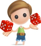 Simple Cute Boy Vector 3D Cartoon Character AKA Little Melvin - Lucky
