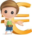 Simple Cute Boy Vector 3D Cartoon Character AKA Little Melvin - Euro