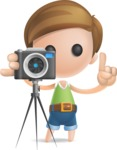 Simple Cute Boy Vector 3D Cartoon Character AKA Little Melvin - Photo