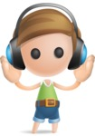 Simple Cute Boy Vector 3D Cartoon Character AKA Little Melvin - Music