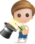 Simple Cute Boy Vector 3D Cartoon Character AKA Little Melvin - Abracadabra