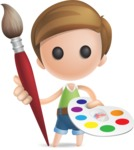 Simple Cute Boy Vector 3D Cartoon Character AKA Little Melvin - Artist