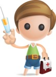 Simple Cute Boy Vector 3D Cartoon Character AKA Little Melvin - Doctor