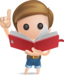 Simple Cute Boy Vector 3D Cartoon Character AKA Little Melvin - Book 2