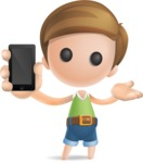 Simple Cute Boy Vector 3D Cartoon Character AKA Little Melvin - iPhone