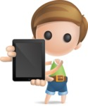 Simple Cute Boy Vector 3D Cartoon Character AKA Little Melvin - iPad 1