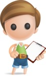 Simple Cute Boy Vector 3D Cartoon Character AKA Little Melvin - Notepad 2