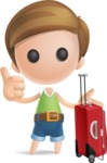 Simple Cute Boy Vector 3D Cartoon Character AKA Little Melvin - Travel