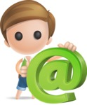 Simple Cute Boy Vector 3D Cartoon Character AKA Little Melvin - Email