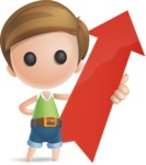 Simple Cute Boy Vector 3D Cartoon Character AKA Little Melvin - Arrow 1