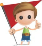 Simple Cute Boy Vector 3D Cartoon Character AKA Little Melvin - Checkpoint