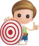 Simple Cute Boy Vector 3D Cartoon Character AKA Little Melvin - Target