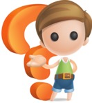 Simple Cute Boy Vector 3D Cartoon Character AKA Little Melvin - Question