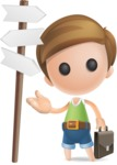 Simple Cute Boy Vector 3D Cartoon Character AKA Little Melvin - Crossroad