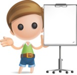 Simple Cute Boy Vector 3D Cartoon Character AKA Little Melvin - Presentation 1