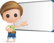 Simple Cute Boy Vector 3D Cartoon Character AKA Little Melvin - Presentation 3