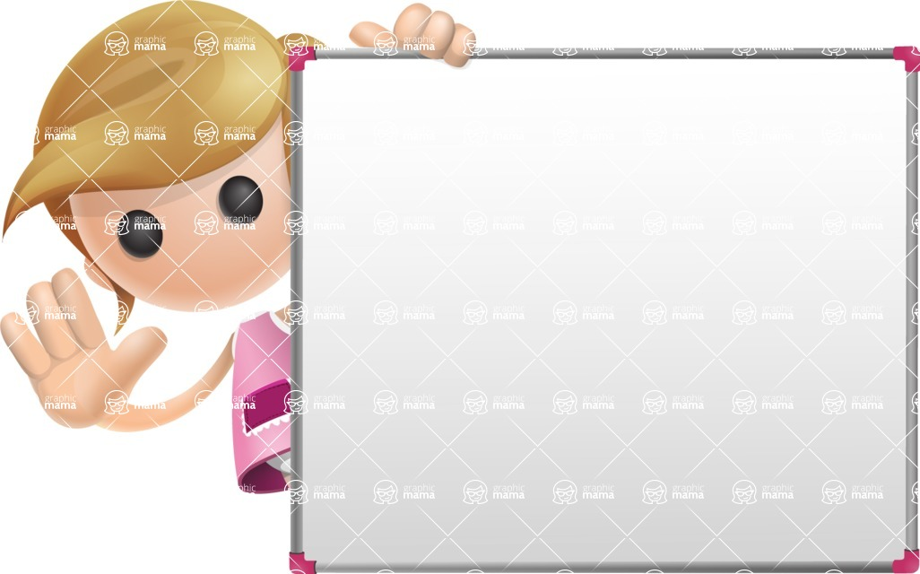 Simple Little Girl Vector 3D Cartoon Character AKA Ellie Babylicious - Presentation 5