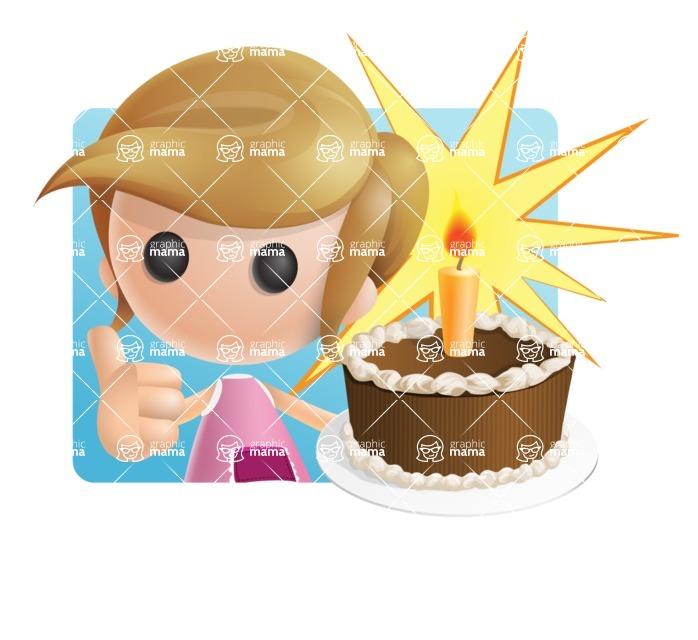 Simple Little Girl Vector 3D Cartoon Character AKA Ellie Babylicious - Shape1