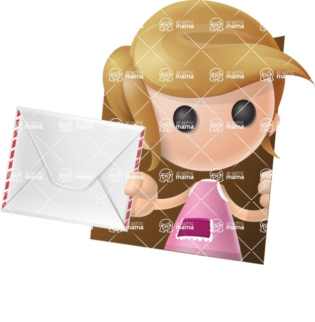 Simple Little Girl Vector 3D Cartoon Character AKA Ellie Babylicious - Shape3