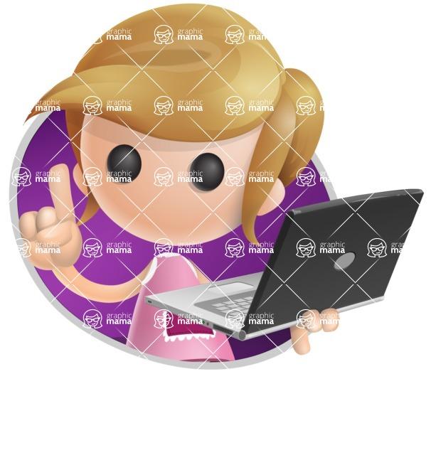 Simple Little Girl Vector 3D Cartoon Character AKA Ellie Babylicious - Shape4
