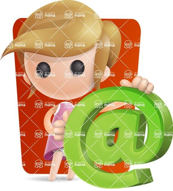 Simple Little Girl Vector 3D Cartoon Character AKA Ellie Babylicious - Shape6