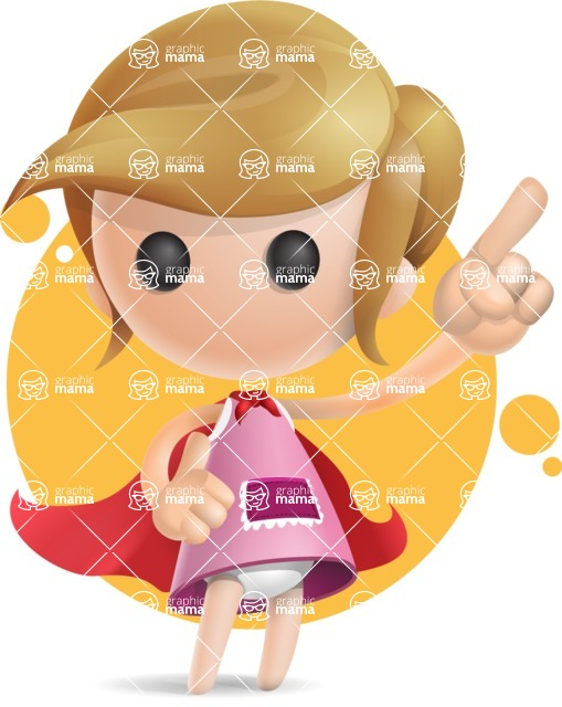 Simple Little Girl Vector 3D Cartoon Character AKA Ellie Babylicious - Shape7