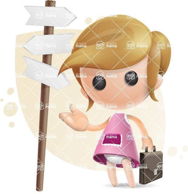 Simple Little Girl Vector 3D Cartoon Character AKA Ellie Babylicious - Shape8