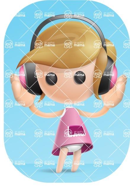 Simple Little Girl Vector 3D Cartoon Character AKA Ellie Babylicious - Shape9