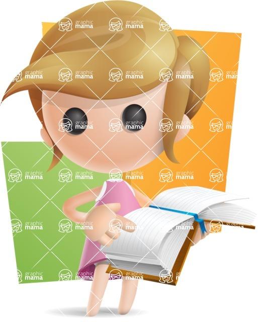 Simple Little Girl Vector 3D Cartoon Character AKA Ellie Babylicious - Shape10