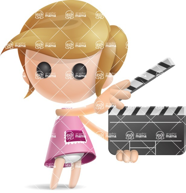 Simple Little Girl Vector 3D Cartoon Character AKA Ellie Babylicious - Movie