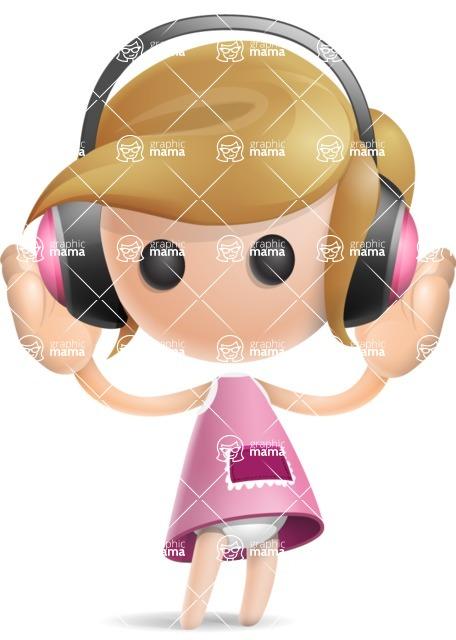 Simple Little Girl Vector 3D Cartoon Character AKA Ellie Babylicious - Music