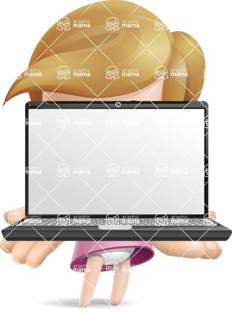 Simple Little Girl Vector 3D Cartoon Character AKA Ellie Babylicious - Laptop 1