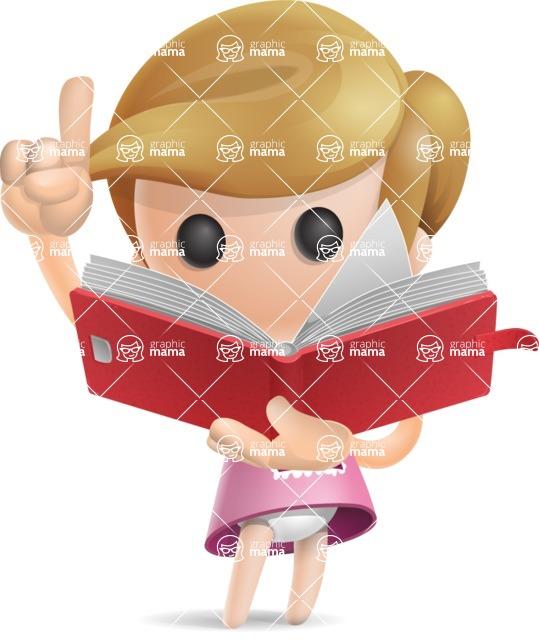 Simple Little Girl Vector 3D Cartoon Character AKA Ellie Babylicious - Book 2