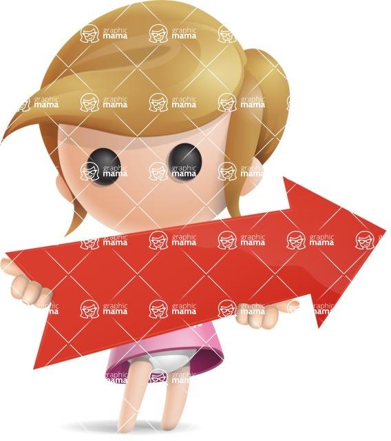 Simple Little Girl Vector 3D Cartoon Character AKA Ellie Babylicious - Arrow 2