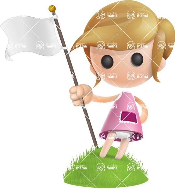 Simple Little Girl Vector 3D Cartoon Character AKA Ellie Babylicious - On Top
