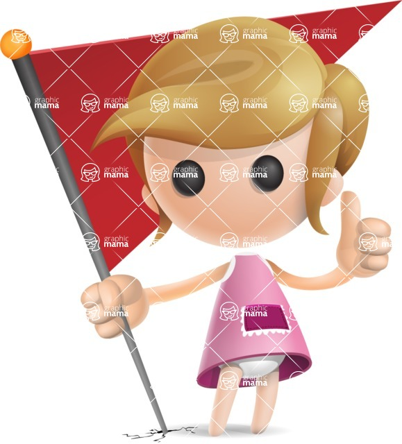 Simple Little Girl Vector 3D Cartoon Character AKA Ellie Babylicious - Checkpoint