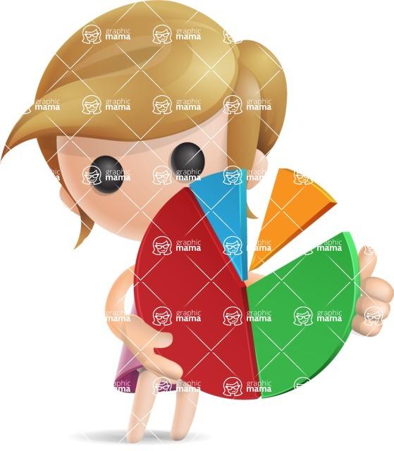 Simple Little Girl Vector 3D Cartoon Character AKA Ellie Babylicious - Chart