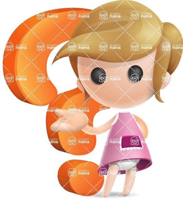 Simple Little Girl Vector 3D Cartoon Character AKA Ellie Babylicious - Question