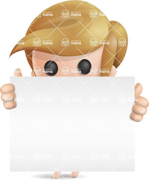 Simple Little Girl Vector 3D Cartoon Character AKA Ellie Babylicious - Sign 6