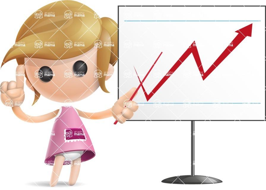 Simple Little Girl Vector 3D Cartoon Character AKA Ellie Babylicious - Presentation 2