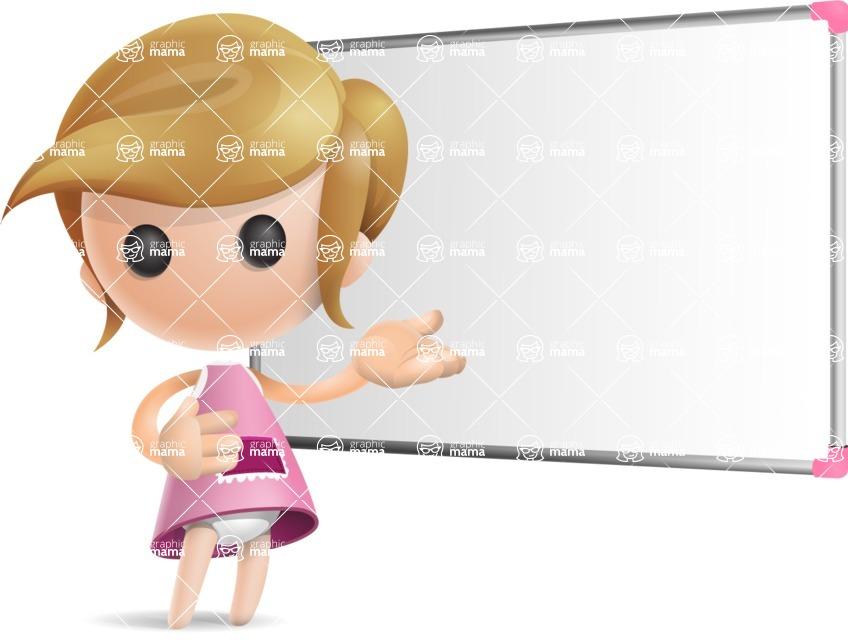 Simple Little Girl Vector 3D Cartoon Character AKA Ellie Babylicious - Presentation 3