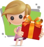 Simple Little Girl Vector 3D Cartoon Character AKA Ellie Babylicious - Shape5