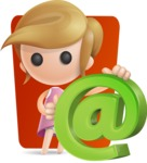 Simple Little Girl Vector 3D Cartoon Character AKA Ellie Babylicious - Shape6