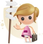 Simple Little Girl Vector 3D Cartoon Character AKA Ellie Babylicious - Shape8