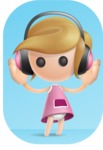 Simple Little Girl Vector 3D Cartoon Character AKA Ellie Babylicious - Shape9