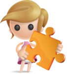 Simple Little Girl Vector 3D Cartoon Character AKA Ellie Babylicious - Puzzle