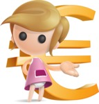 Simple Little Girl Vector 3D Cartoon Character AKA Ellie Babylicious - Euro