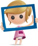 Simple Little Girl Vector 3D Cartoon Character AKA Ellie Babylicious - Frame